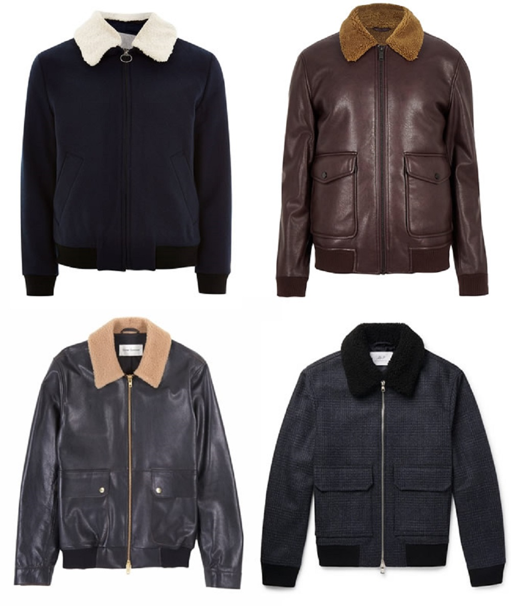 جواكيت شيرلنج-Shearling Flight Jacket