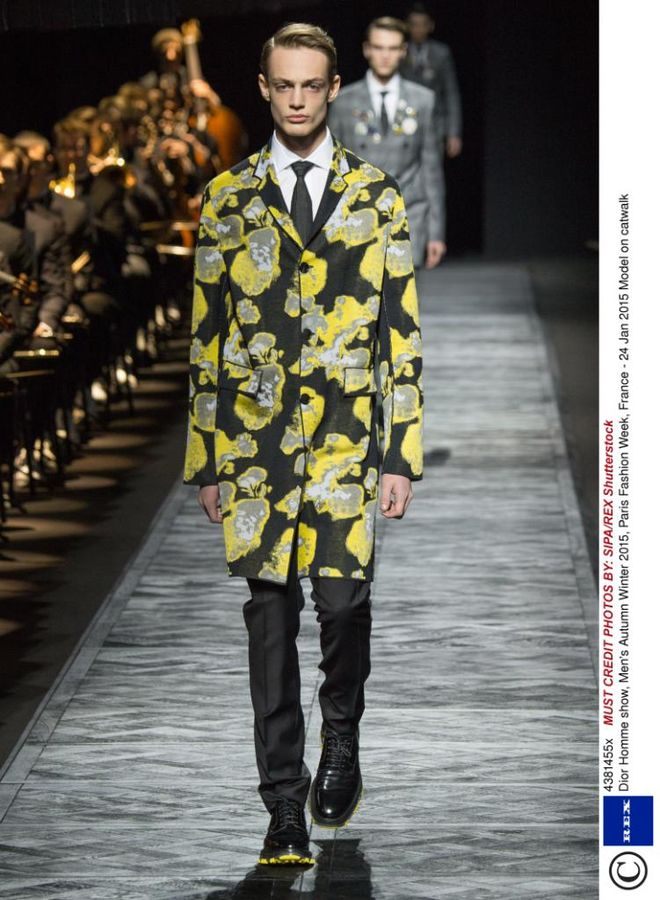Dior Homme show patterned